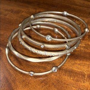 Make offer!  5 Bangles bracelet set Antiqued gold